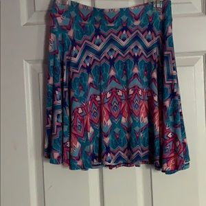 Blue and Pink Skater skirt